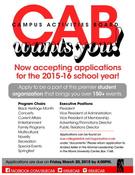 CAB applications flyer