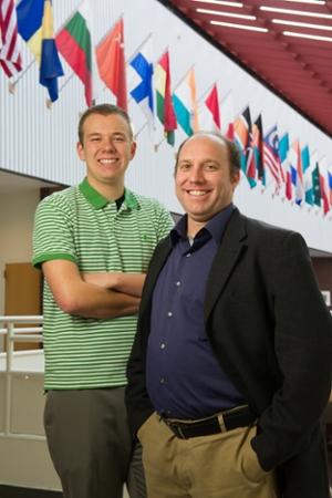 instructor Mark Poepsel and student James Moss global management 01-27-16