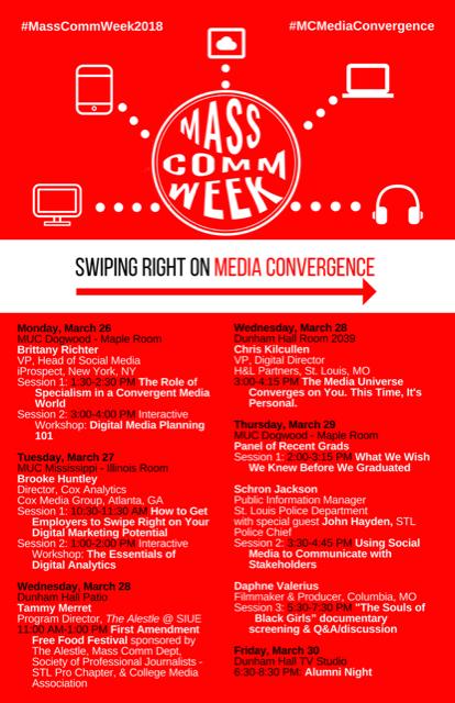 Mass Comm Week (11 x 17) Flyer